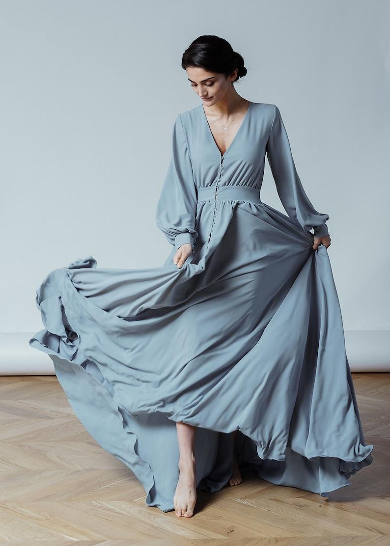 0b1644bb4e5e0 Blue And Grey Wedding Dresses