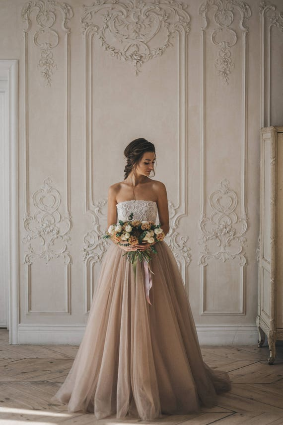 Colored Disney Wedding Dress Harmony Simple Off The Shoulder Etsy