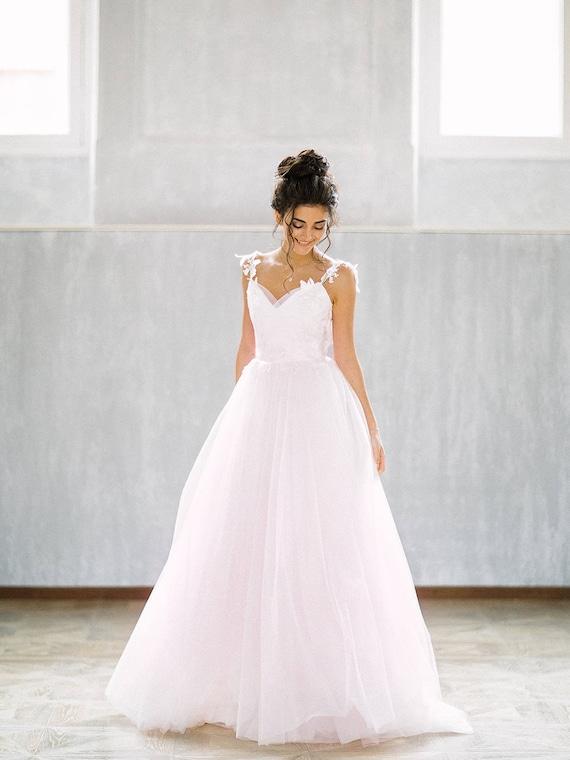 Wedding dress Poesia/bohemian wedding dress/romantic wedding | Etsy