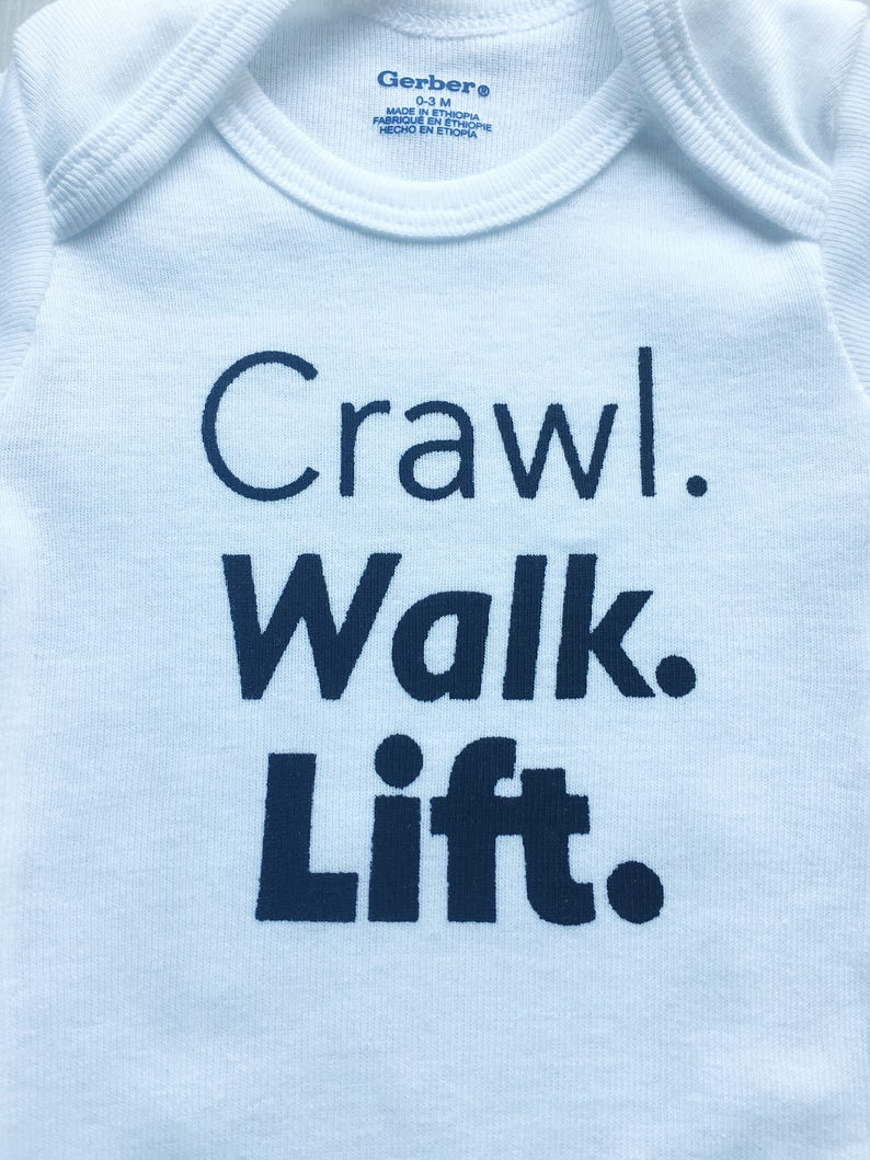 e39b0e36b Crawl Walk Lift Onesie® Crossfit Baby Workout Baby Clothes | Etsy