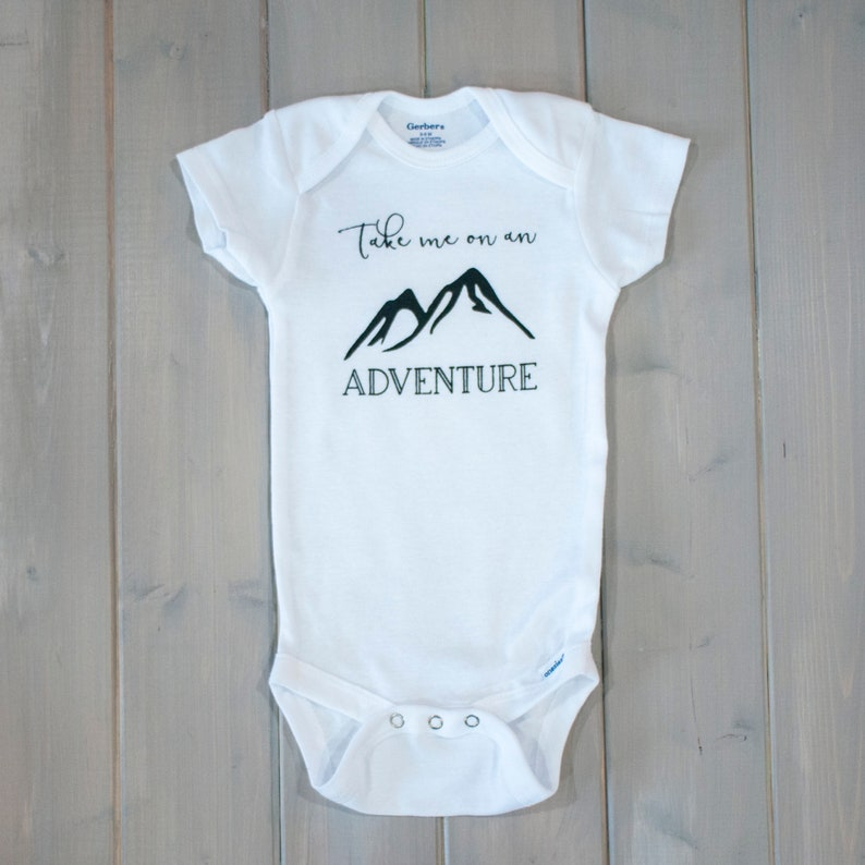 5ef50c06b Adventure Baby Onesie® Mountain Baby Gift Outdoor Baby Clothes