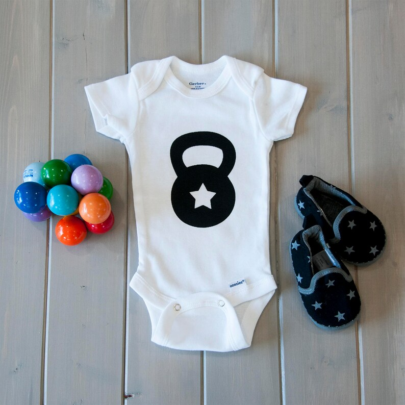 a55dbe80a Gym Baby Onesie® Workout Baby Clothes Crossfit Baby Onesie® | Etsy