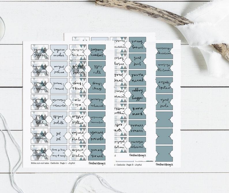Catholic 'Joyful' Bible Tabs (73 + blanks), Bible Tabs, Catholic Printable  Tabs, Digital Download, Instant Download, PDF