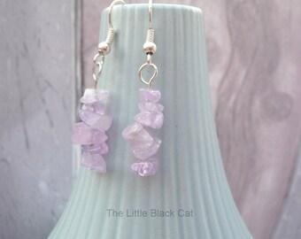 Lilac Amethyst Earrings, Gemstone Earrings, Lilac Earrings, Purple Jewellery, Dangly Earrings, Semi Precious, Womens Gift, For Her, UK SHOP