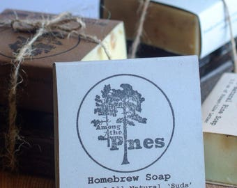 Organic Homebrew Soap - natural - beer - pine - eco - home - cottage