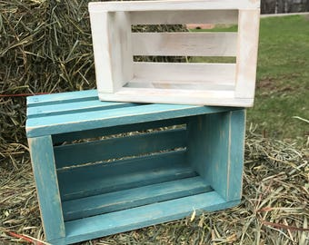 Finished or unfinished set of 3 wood crates, wooden storage crate small crate, rustic wood crate, wood crate for decoration, wood box