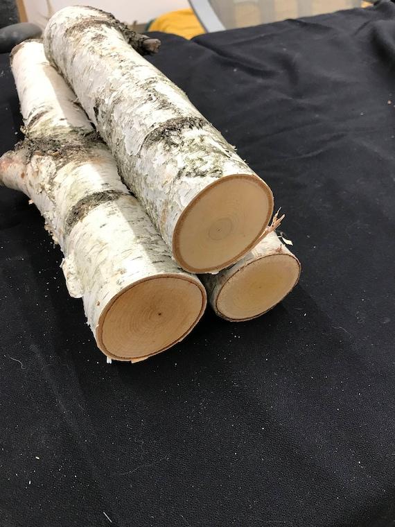 Natural Birch Logs Fireplace Logs White Birch Wood Log Set Etsy