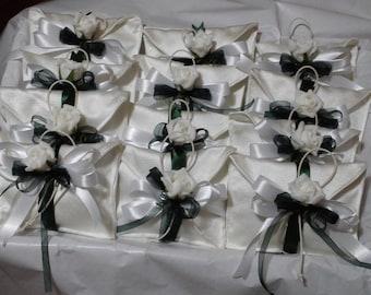 Bags sachets Confetti Wedding favor, promise, baptism, communion, silver Wedding for Confettate