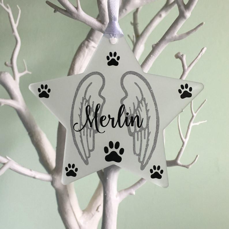 Pet Memorial Ornament Pet Memorial Gift Pet Loss Bauble image 0