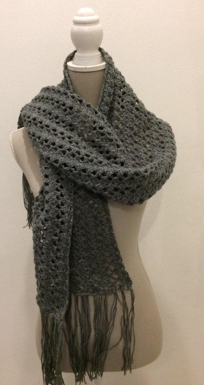 acquista il più recente bene limpido in vista Sciarpa lana crochet . Crochet's scarf
