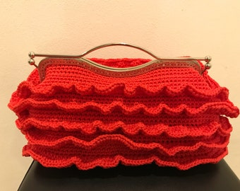 Red Hand bag with Voula