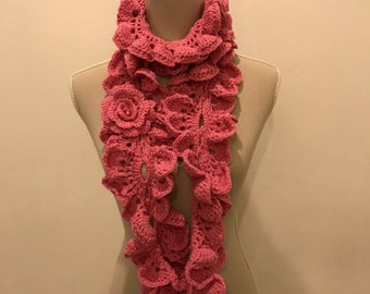 Waves Crochet Scarf