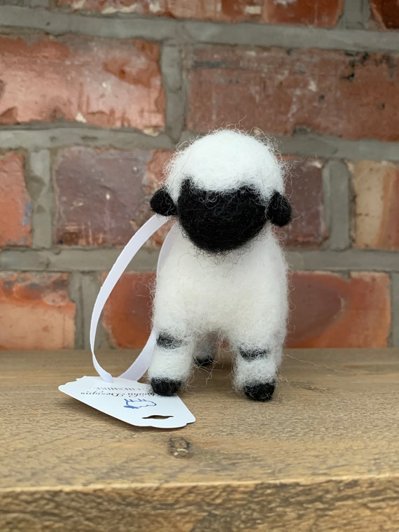 Needle Felted Sheep - sculpture - hanging decoration - christmas decoration - birthday gift - Mother's Day gift - farm animal