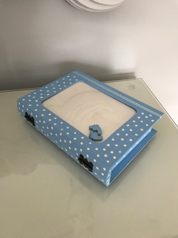 Baby Boy Keepsake/Memory Photo Frame Box.