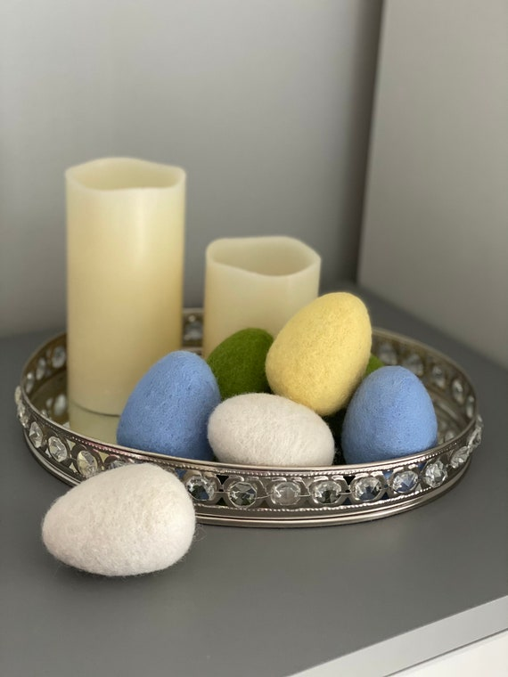 Needle Felted Easter Eggs | Spring Decorations | Felted Eggs For Crafts | Easter Tree Decorations
