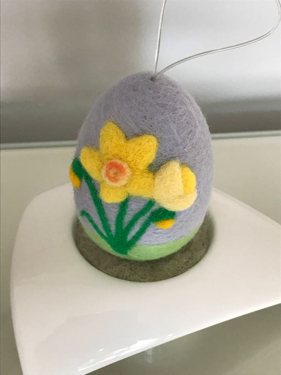 Needle Felted Egg Decoration.