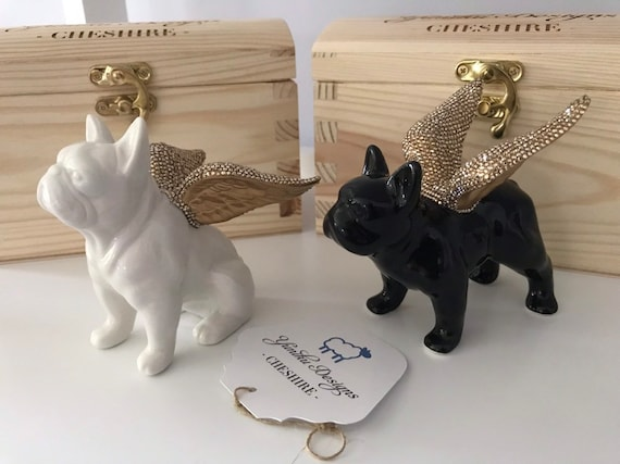 Swarovski ® Crystal Embellished Porcelain French Bulldog Ornament.