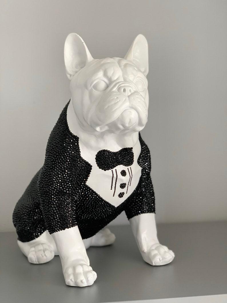 Large Swarovski ® Crystal Embellished French Bulldog Statue  image 0