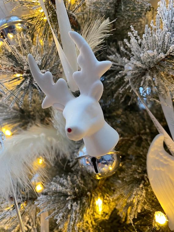 Deer Head Hanging Decoration with Swarovski Crystal Nose