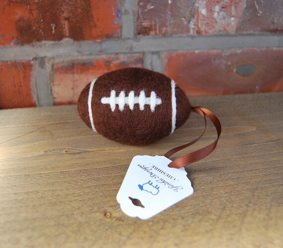 Needle Felted American Football - Pocket Hug - Token Gift - Rugby Ball Decoration - hanging decorations - christmas decoration