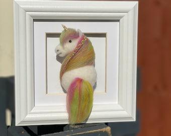 Custom Felted Horse | Framed Picture | Needle Felted Horse Art | Home & Bedroom Decor
