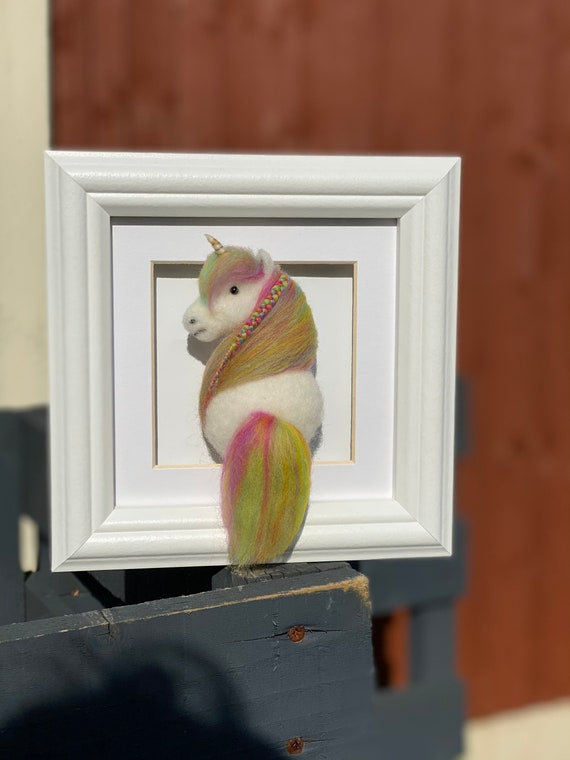 Custom Felted Horse | Framed Picture | Needle Felted Horse Art | Home & Bedroom Decor