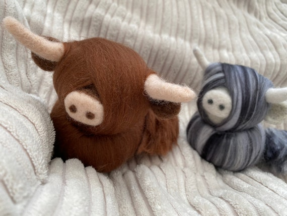 Needle Felted Highland Cow | Hanging Decoration | Christmas Tree Decoration | Photography Prop