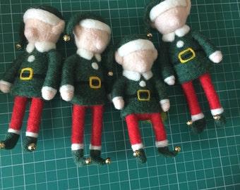 Needle Felted Elf Christmas Decoration