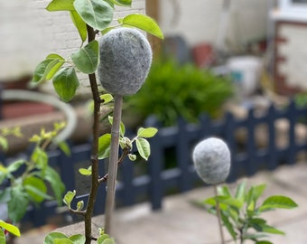 Garden Cane Toppers | Felted Garden Cane Toppers | Gardening Gift | Gifts For Gardeners | Garden Accessories |