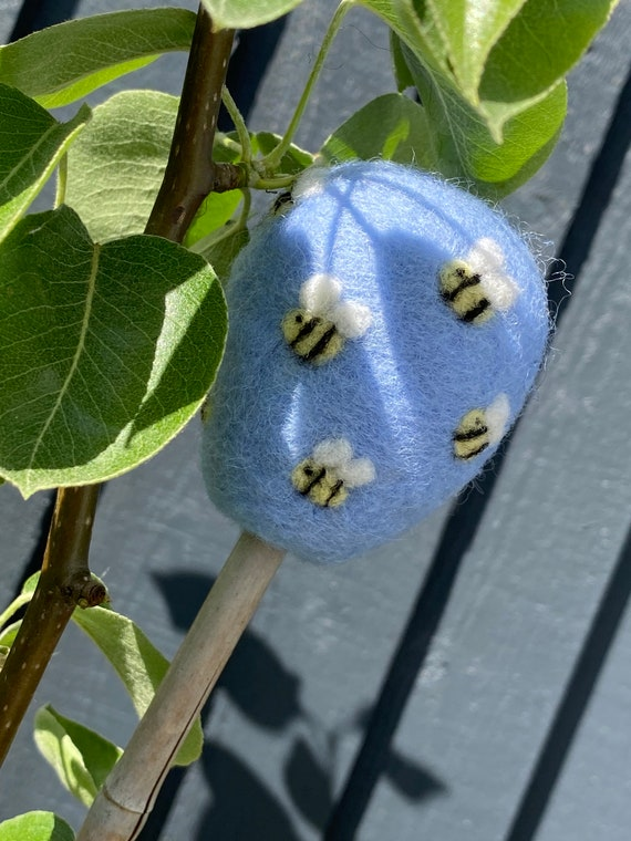 Garden Cane Toppers | Felted Garden Cane Toppers | Gardening Gift | Gifts For Gardeners | Garden Accessories | Bumble Bee