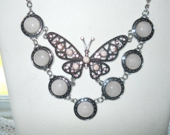 Hubelite Butterfly Bib Necklace #842