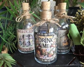 Drink Me Bottle. Drink Me. Alice in Wonderland Bottle. Alice in Wonderland Drink Me Bottle. Alice in Wonderland Decor.