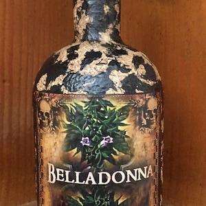 Toadstool Bottle Steampunk Bottle Steampunk Decor Steampunk Gift. Halloween Decor Gothic Home Decor Apothecary Bottle Halloween