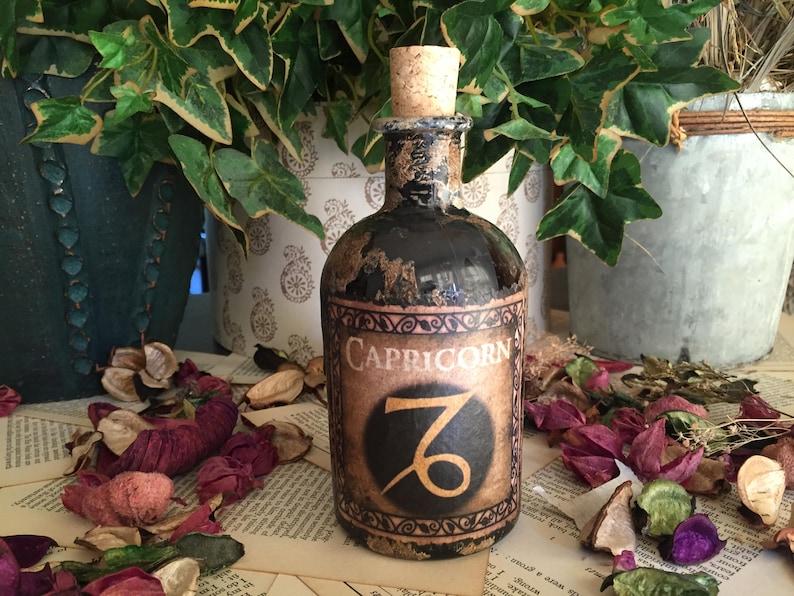 Astrology Capricorn Bottle Star Sign. Zodiac Bottle Signs of the Zodiac Capricorn Capricorn Gift