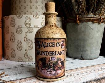 Alice in Wonderland Decor. Alice in Wonderland. Alice in Wonderland Bottle. Mad Hatters Tea Party. Alice in Wonderland Gift. Mad Hatter.
