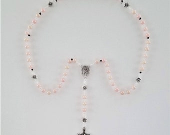 Soft Pink Pearlized Rosary