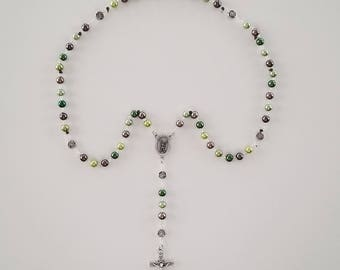 Camo Saint Michael Rosary (Marines / Air Force / Army / Navy Available)