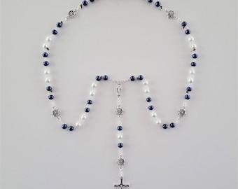 Navy / White Nautical Rosary