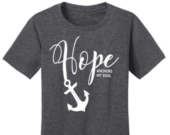 Hope Anchors My Soul Christian T-Shirt