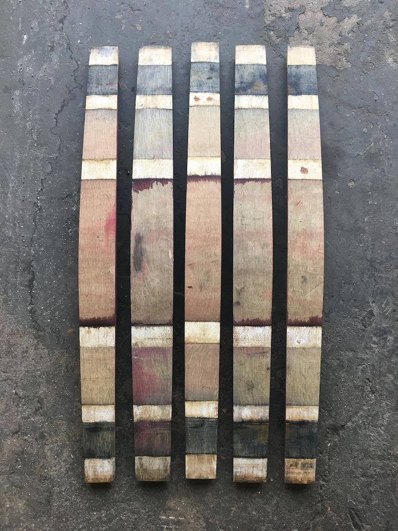 Twenty 20 Genuine Used Wine Barrel Staves Rustic Repurpose  FREE SHIPPING!