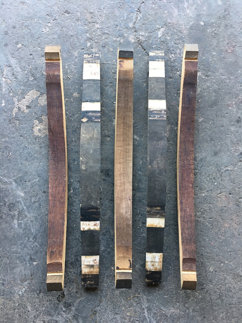 15 Genuine Used Wine Barrel Staves Rustic Repurpose  Free Shipping!