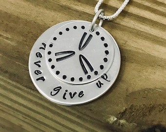 Down syndrome /Autism Necklace/ Never Give Up Necklace /Disability Necklace /Sterling silver/Special Needs Necklace/ Awareness Jewelry
