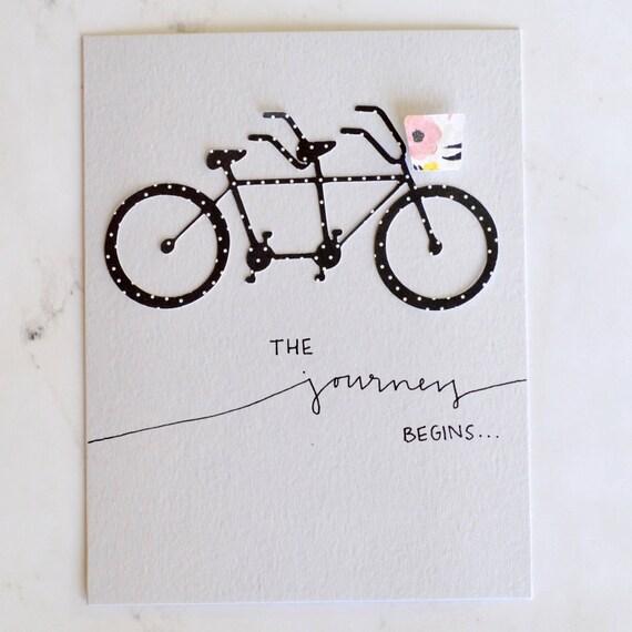 Tandem Fahrrad Hochzeitskarte Etsy