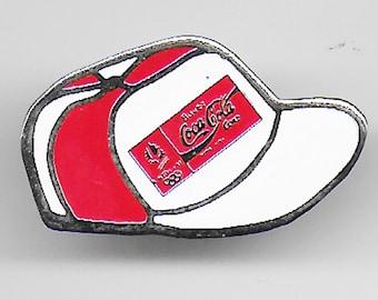 86c9eac6e797d Vintage COCA COLA Baseball Hat Lapel Pin