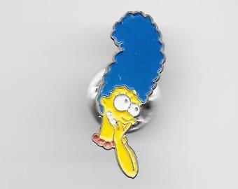 Vintage MARGE SIMPSON Giggling Lapel Pin, Enamel Pin, Pinback, Hat Pin, The Simpsons, Bart, Lisa, Maggie, Homer, Wiggum