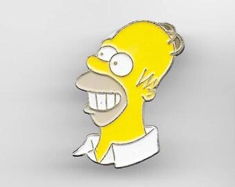 Vintage HOMER SIMPSON Lapel Pin, Enamel Pin, Pinback, Hat Pin, The Simpsons Bart, Lisa, Marge, Maggie, 90s