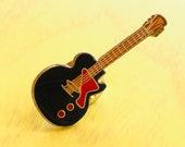 Vintage GIBSON LES PAUL Electric Guitar Pin, Enamel Pin, Lapel, Hat, Pinback, Heavy Metal, Punk, rock n roll, Grunge, 80s