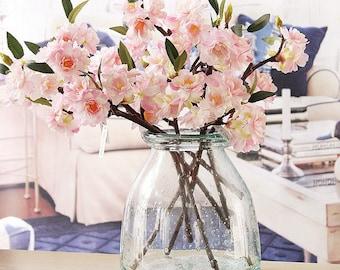 Silk Sakura Cherry Blossom   7 Limb Bouquet