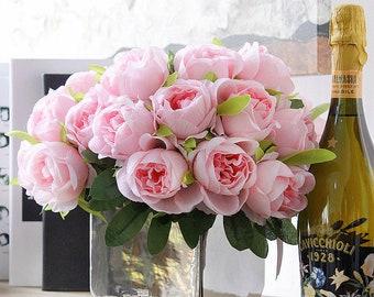 Silk Garden Roses | 10 Head Bouquet