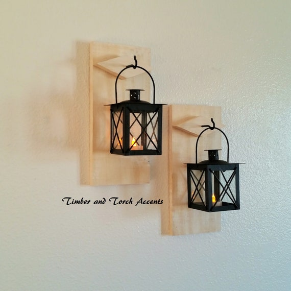 Rustic Wall Sconce Wall Sconce Primitive Country Decor Etsy